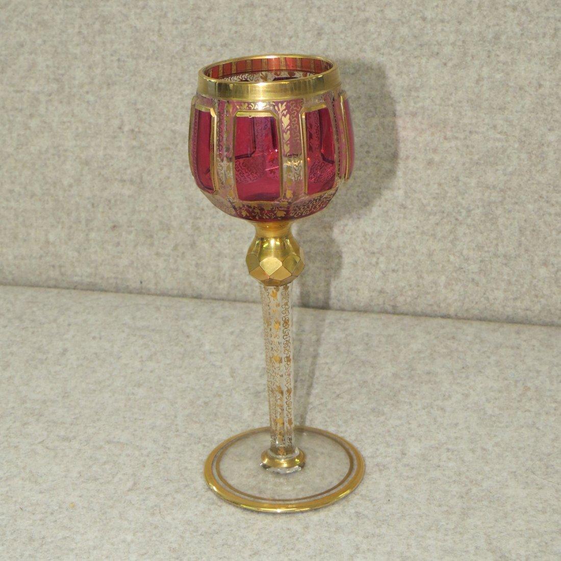 A Bohemian Glass Stemware Service. - 2