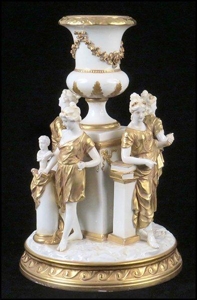 A German Gilt Porcelain Figural Group. - 2