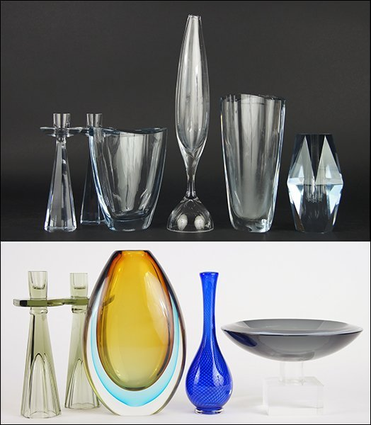 A Collection of Stromberg Swedish Glass.