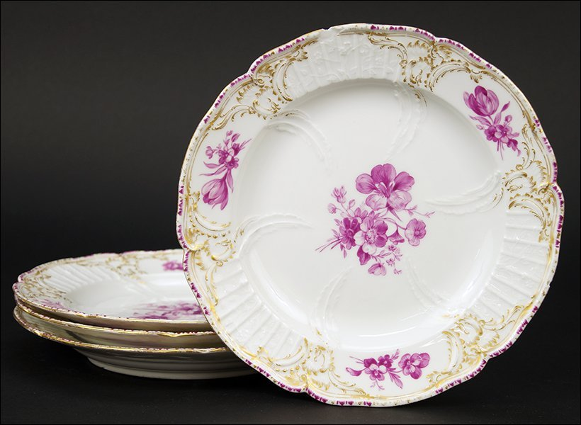 A Set of Four KPM Porcelain Plates.