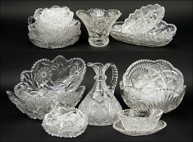A Collection of Brilliant Cut Glass.