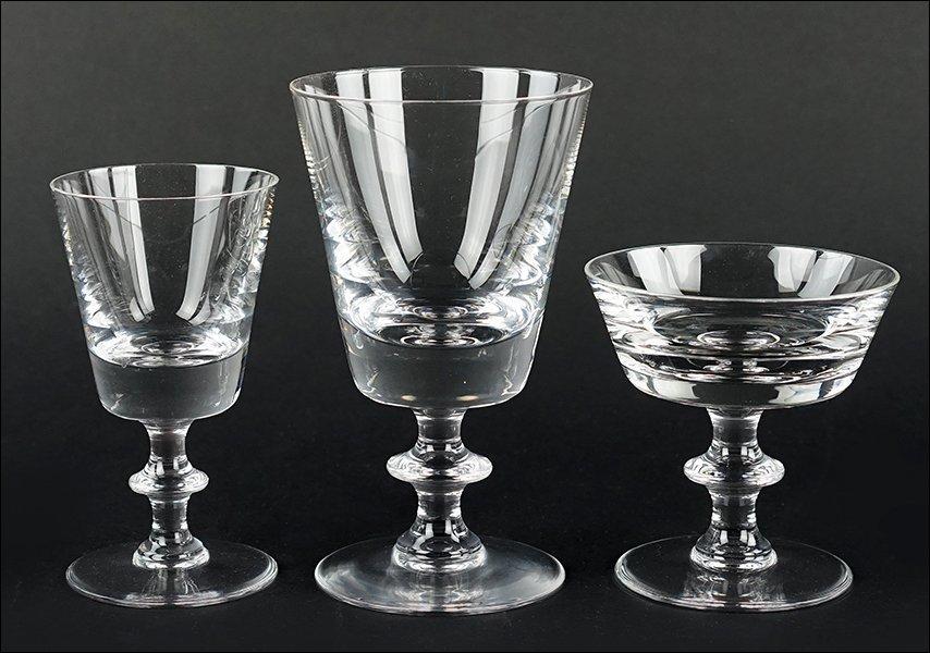 A Val Saint Lambert Crystal Stemware Service.