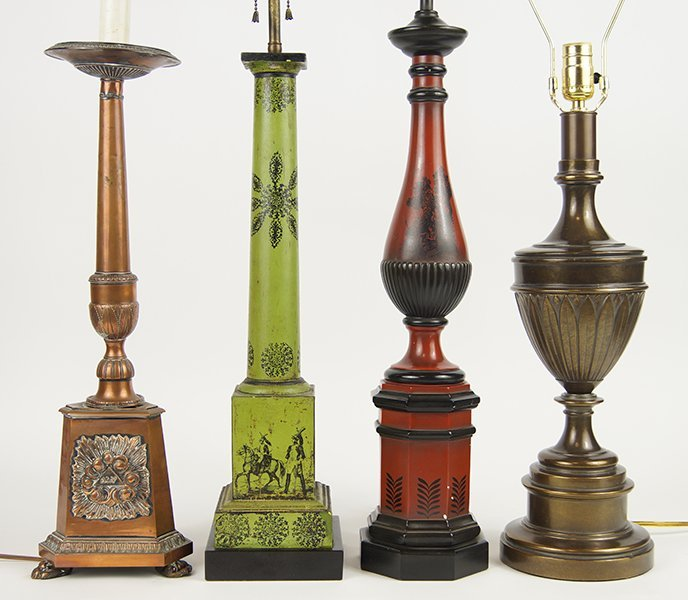 Four Table Lamps.