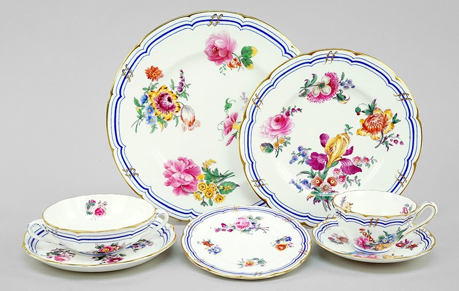 Two Coalport Porcelain Partial Table Services.