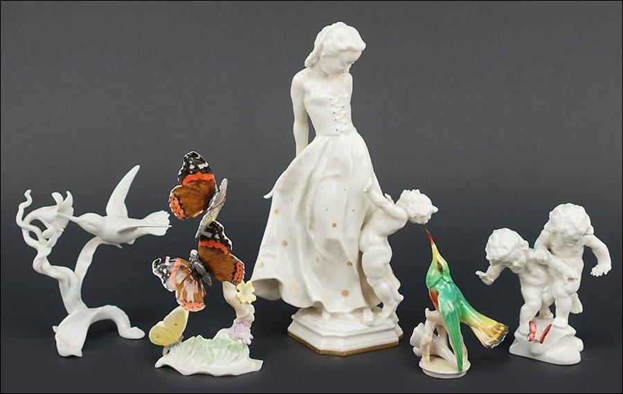 Four Hutschenreuther Porcelain Figures.