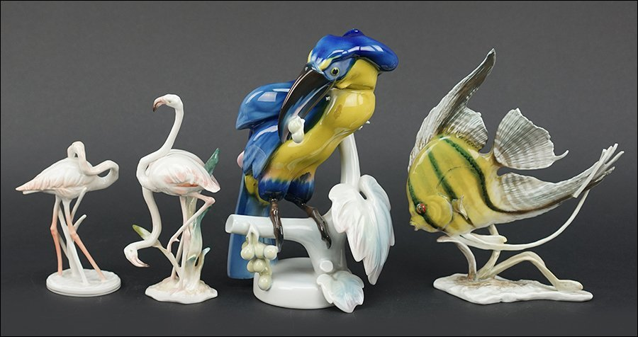 Four Rosenthal Porcelain Figures.
