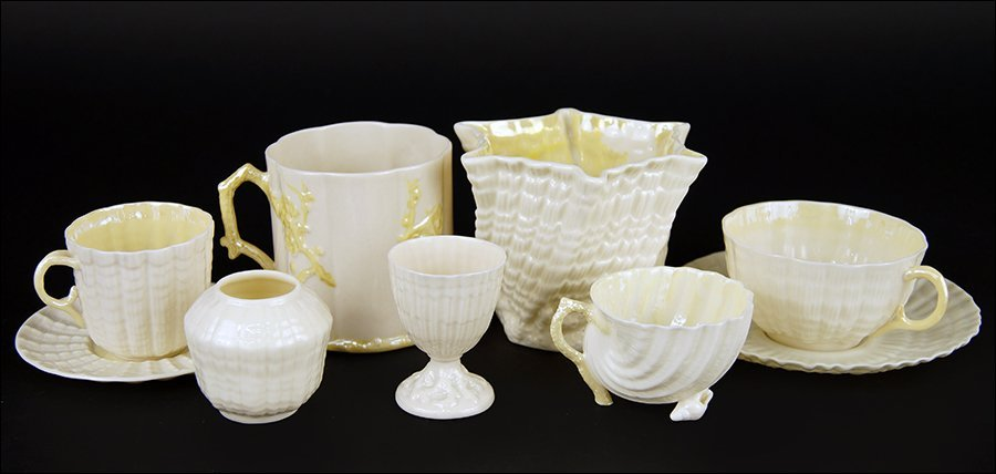 A Collection of Belleek Porcelain Table Articles.