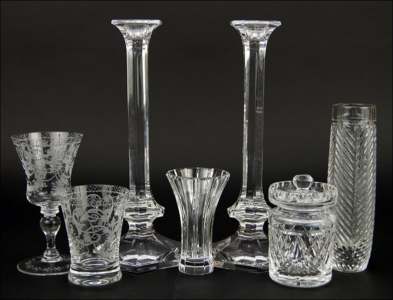An Etched Crystal Partial Stemware Service.