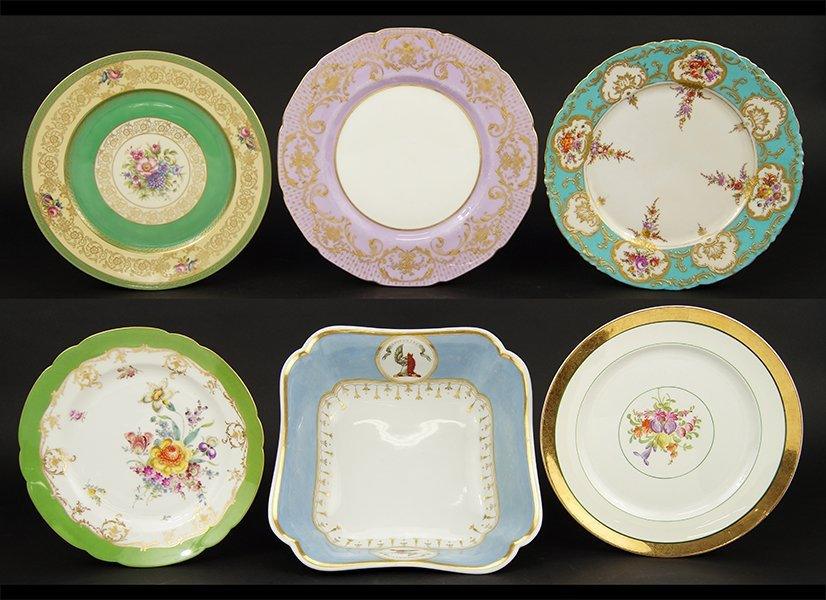 A Collection of Porcelain Plates.