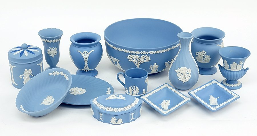 A Collection of Wedgwood Jasperware Table Articles.