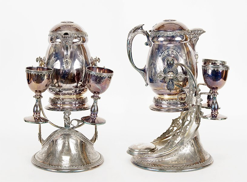 An American Silverplate Pitcher En Suite.