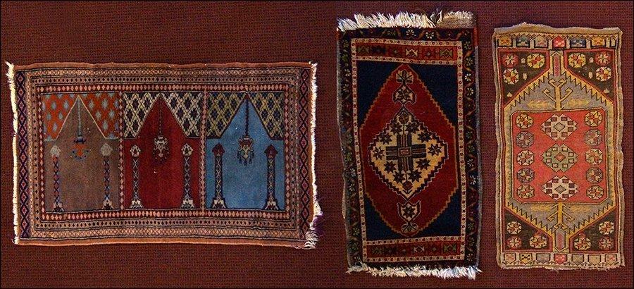 Three Persian Wool Mats.