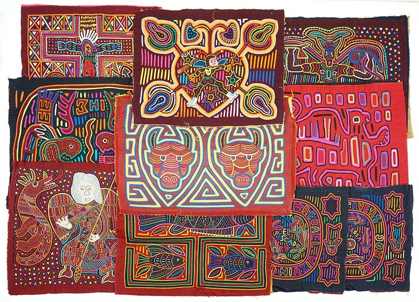 A Collection of Cuna Tribe Molas.