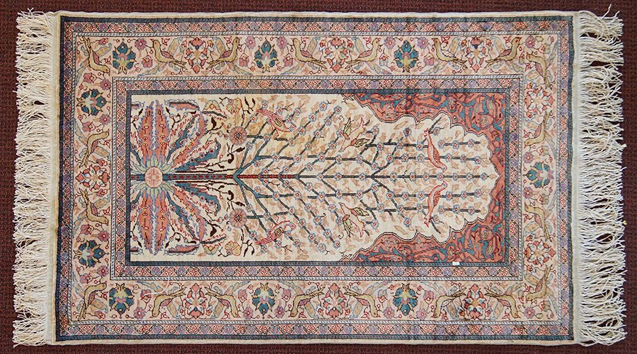 A Silk Blend 'Tree of Life' Rug.