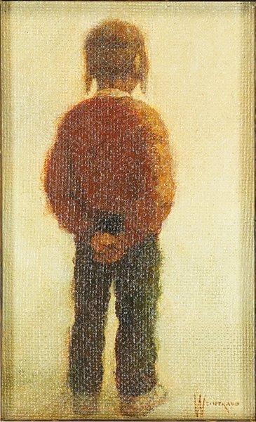 William Weintraub (American, B. 1926) Seated Boy. - 2