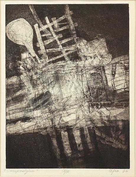 Afro Basaldella (Italian, 1912-1976) Composizine.
