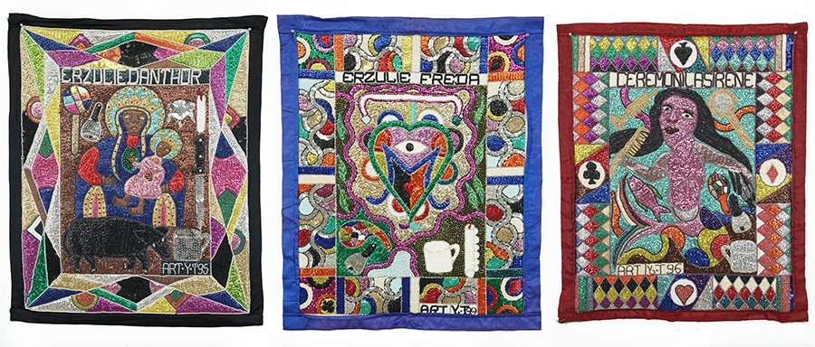 Three Haitian Vodou Flags by Yves Telemak.