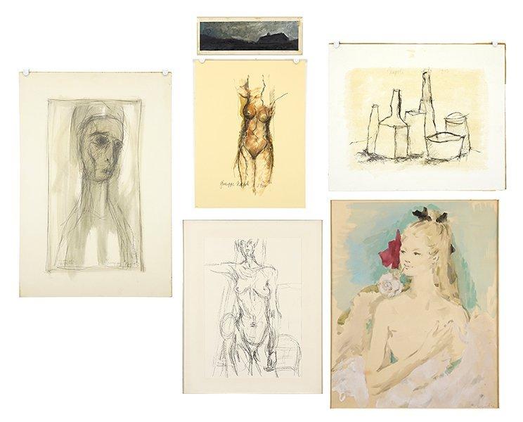 Giuseppe Napoli (American, 1929-1967) Four Works.