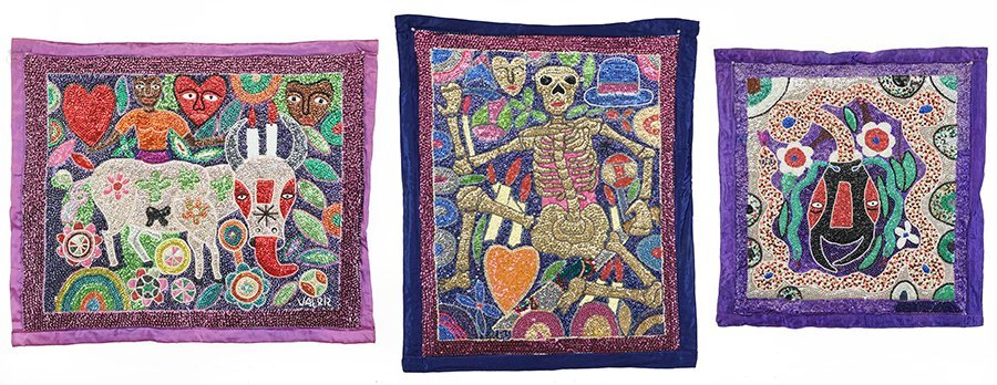 Three Haitian Vodou Flags by Georges Valris.