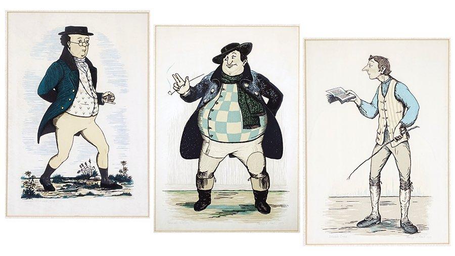 Philip G. Reed (1908-1989) Three Woodblock Prints.