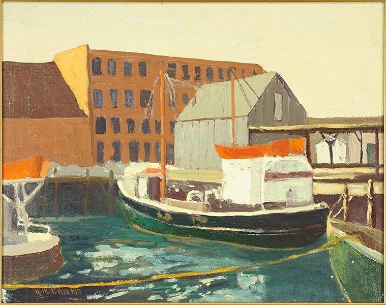 William P. Krehm (American, 1901-1968) Harbor Scene.