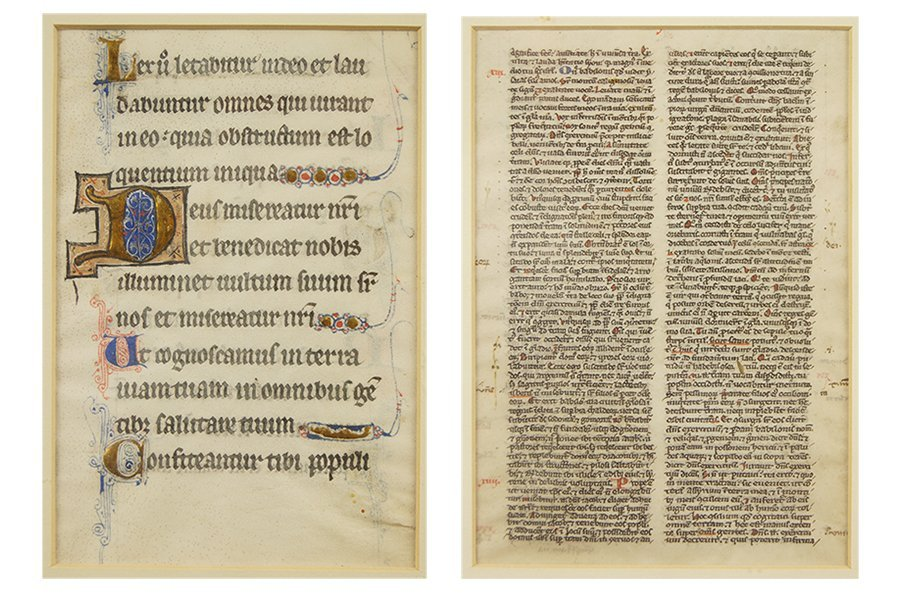 Two Manuscript Leaves from a Book of Hours (15th