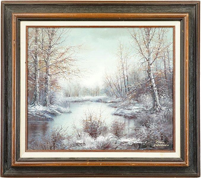 Minas Gharibian (Armenian, B. 1947) Winter Landscape. - 2