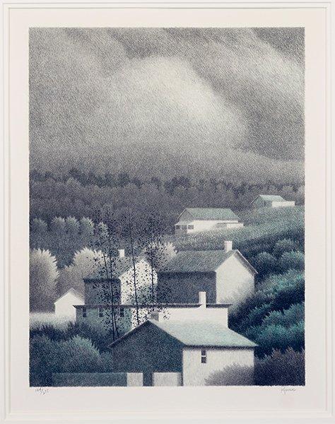 Robert Kipniss (American, B. 1931) Hillside.