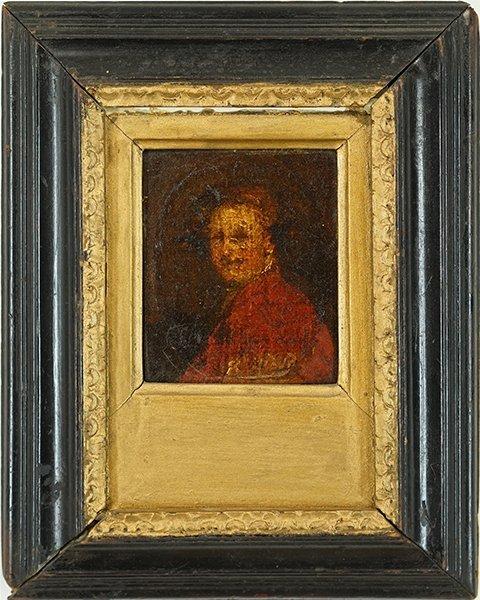 Artist Unknown (18th Century) Portrait of a Man. - 2