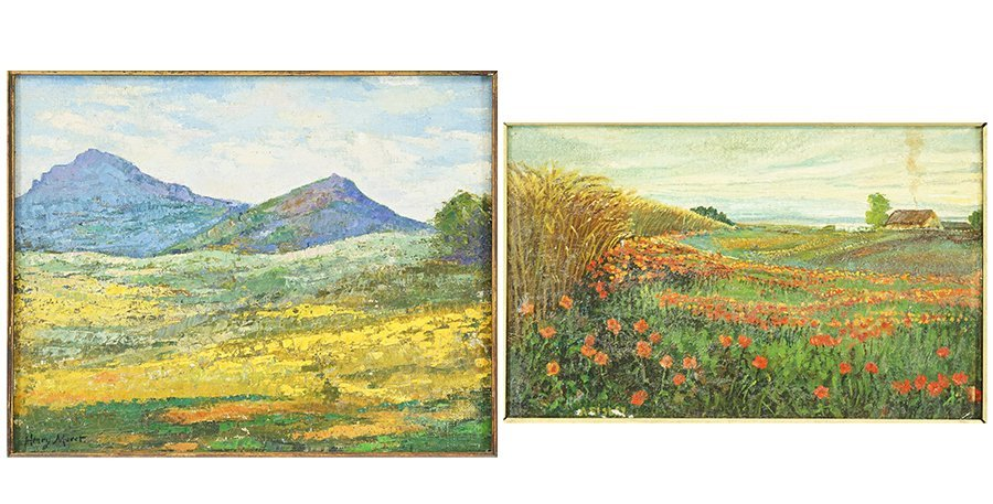 Artists Unknown (20th Century) Two Landscapes.