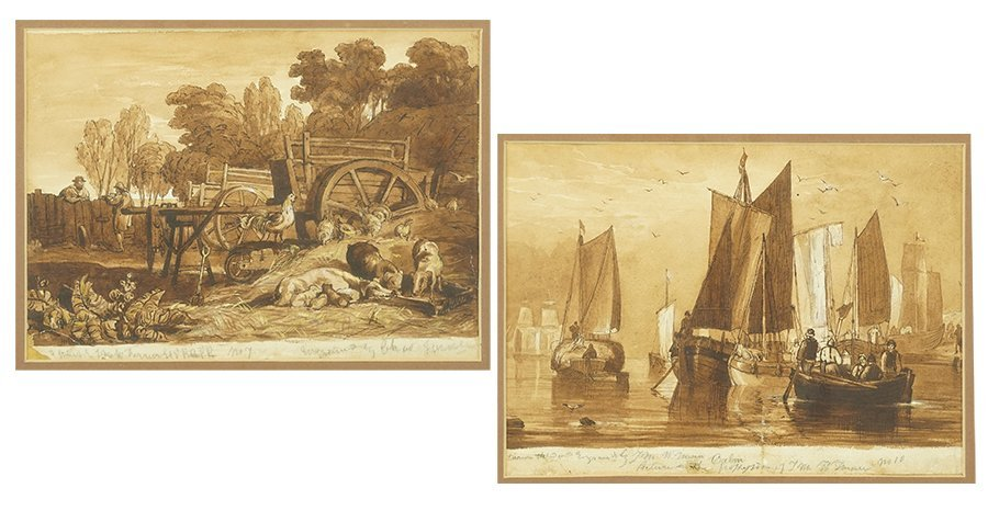 After J.M.W. Turner (British, 19th Century) Two Works.