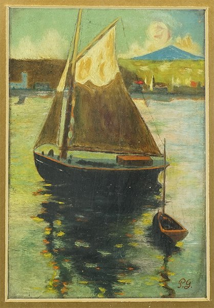 After Paul Gaugin (French, 19th Century) Boat at
