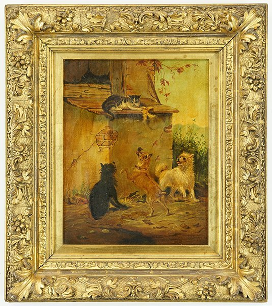 Artist Unknown (American, 20th Century) Dogs and Cats. - 2