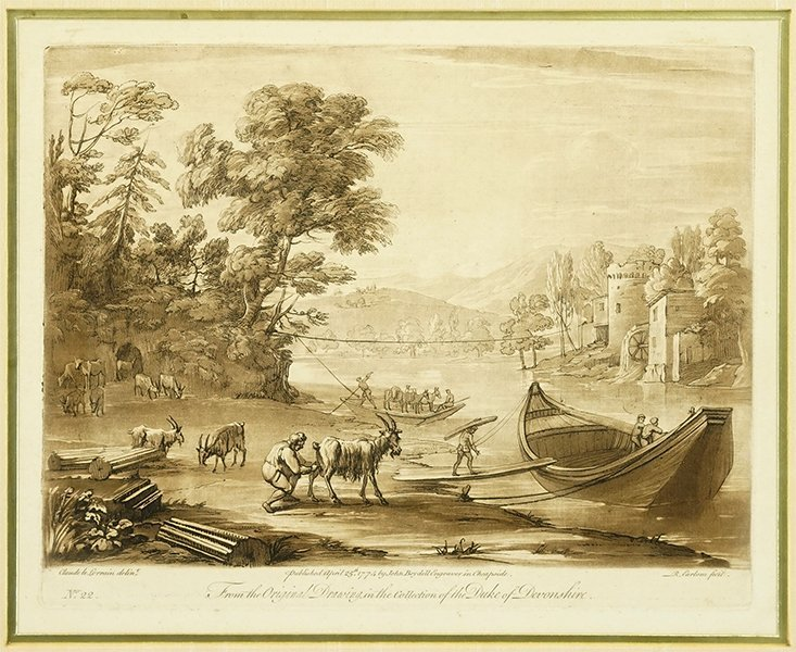 After Claude Lorrain (French, 1600 - 1682) No. 22.