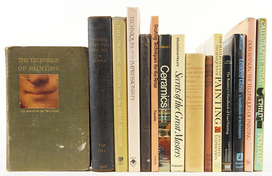 A collection of Books on Art Technique.