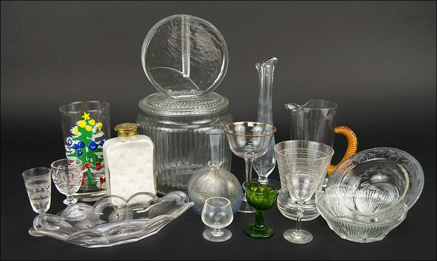 A Collection of Glassware.
