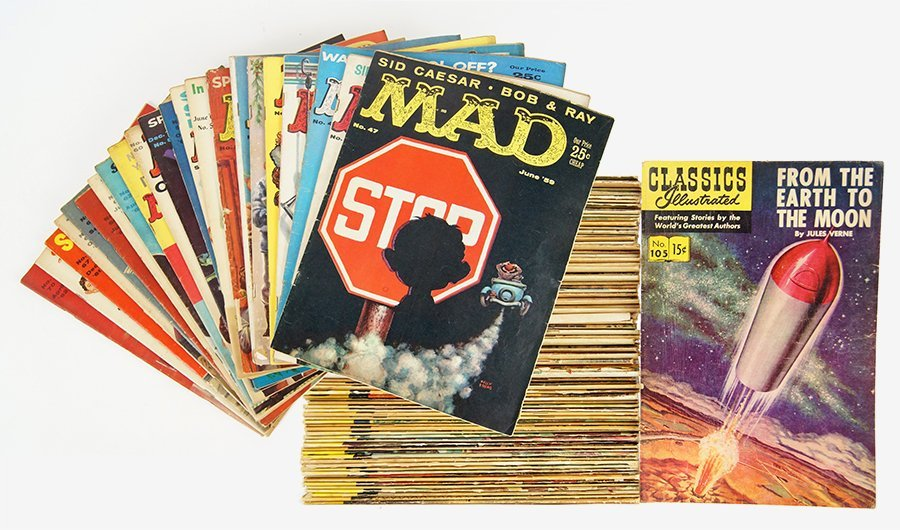 A Collection of Mad Magazines.