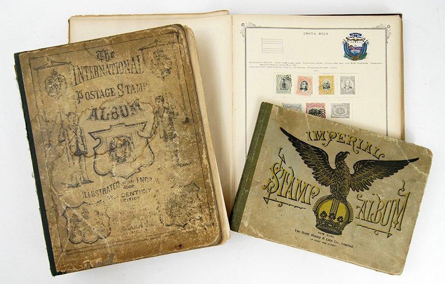 A Scott Stamp Company Partial Stamp Album.