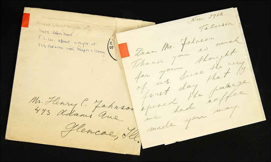 Olgivanna Lloyd Wright (1898-1985) A Hand Written
