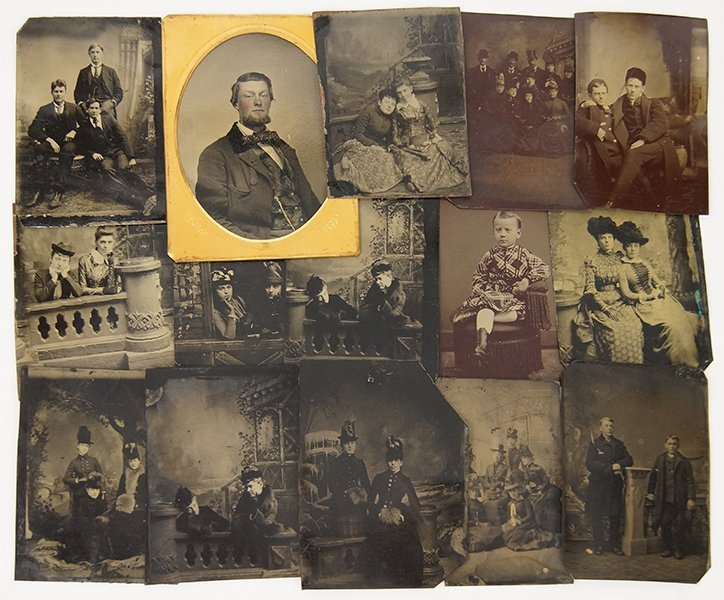 A Collection of Tin Type Photographs.