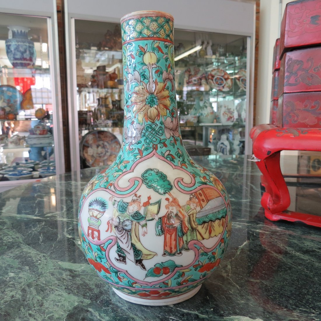 A Chinese Qing Dynasty Bottle Form Vase. - 2