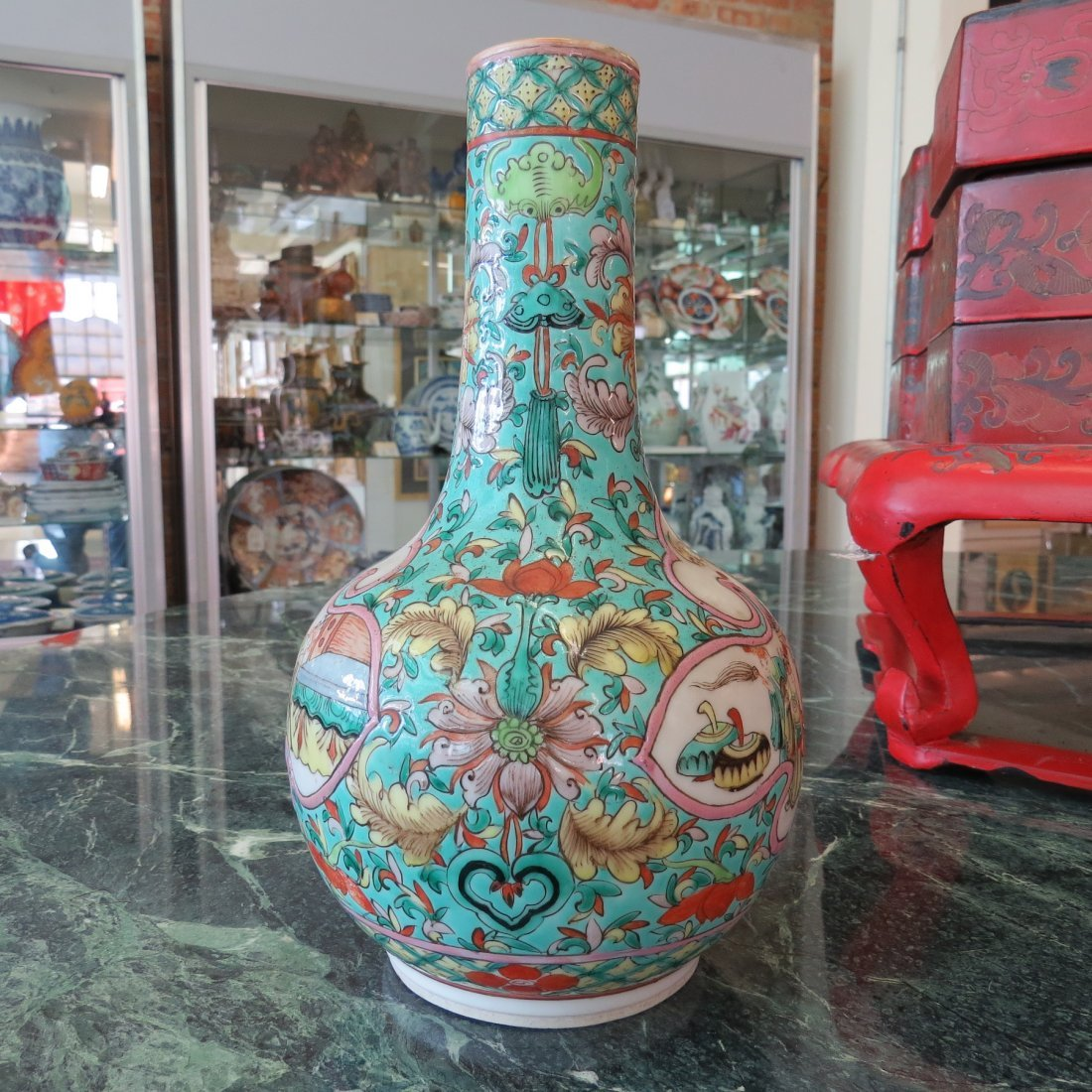 A Chinese Qing Dynasty Bottle Form Vase. - 3