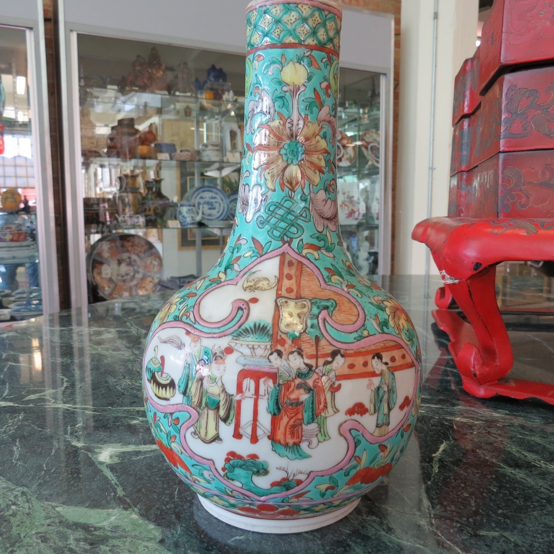 A Chinese Qing Dynasty Bottle Form Vase. - 4
