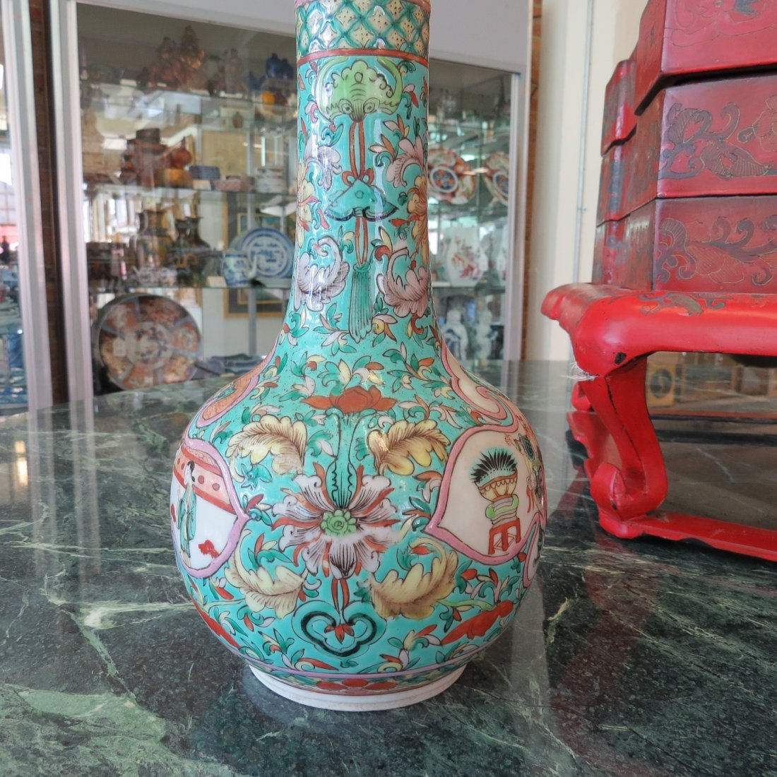 A Chinese Qing Dynasty Bottle Form Vase. - 5