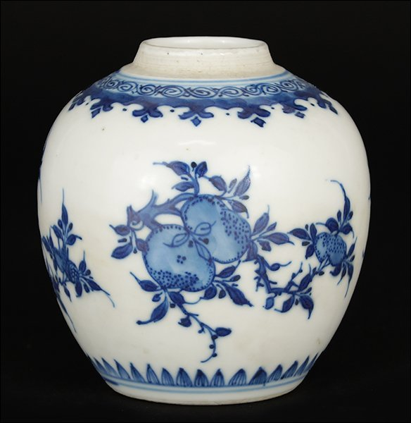 A Chinese Qing Dynasty Porcelain Jar.