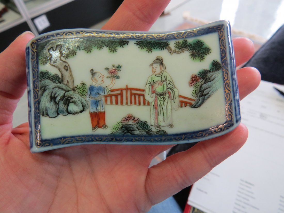 A 19th Century Chinese Porcelain Brush rest. - 2