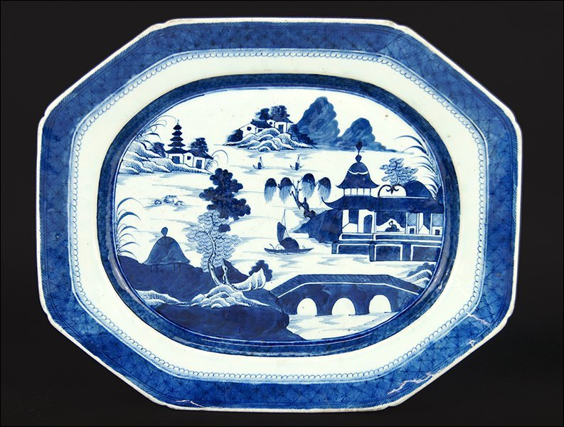 A Chinese Canton Serving Platter.