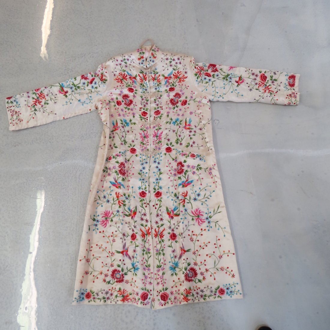 Three Chinese Embroidered Silk Robes. - 2