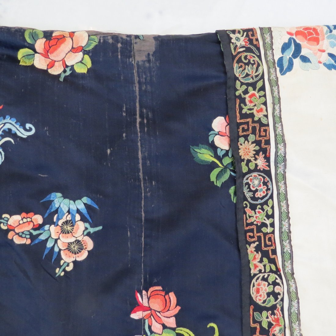 Three Chinese Embroidered Silk Robes. - 5
