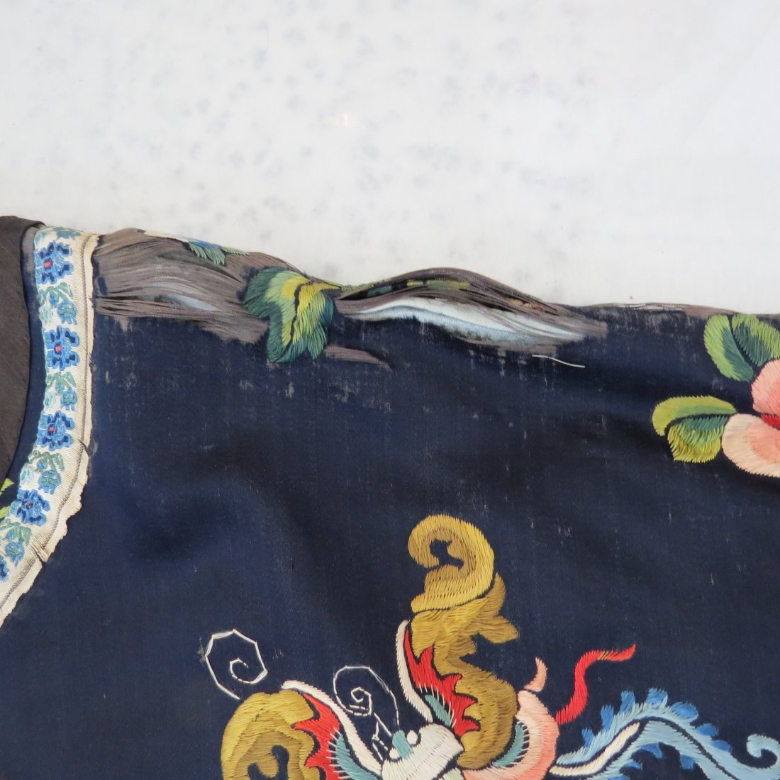 Three Chinese Embroidered Silk Robes. - 6